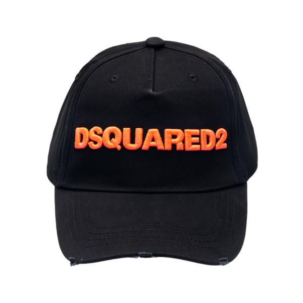 Cappello da baseball nero con ricamo logo                                                                                                             Dsquared2 BCW0028 retro