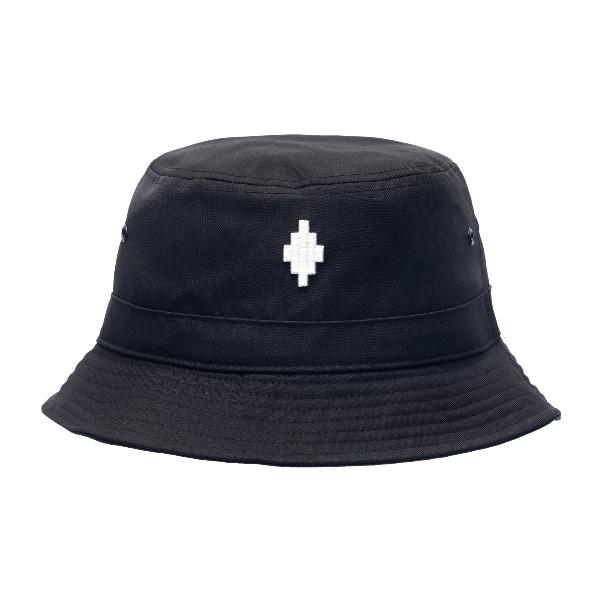 Black bucket hat with logo                                                                                                                            Marcelo burlon CMLB006R21FAB001 front