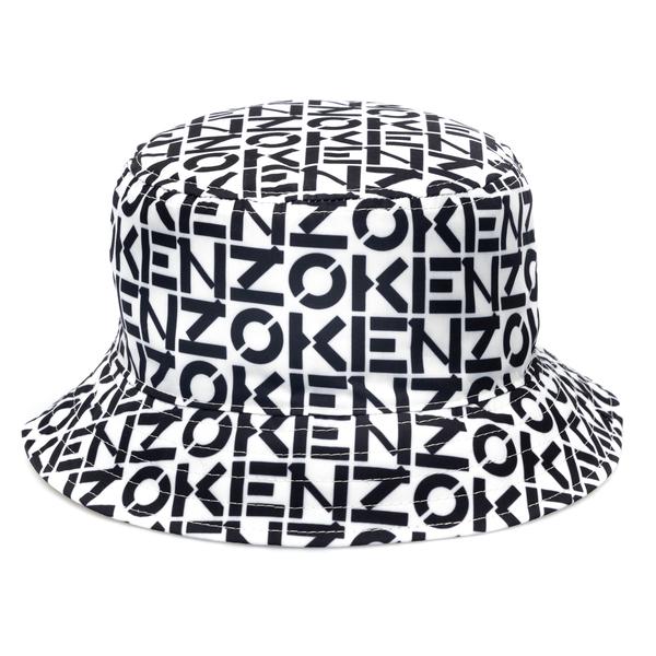 Cappello a secchiello bianco con pattern                                                                                                              Kenzo FB65AC904 retro