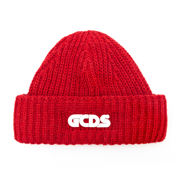 Red beanie hat with logo                                                                                                                              Gcds FW22M010026 back