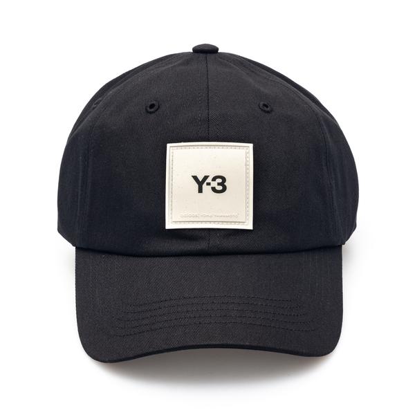 Cappello da baseball nero con patch logo                                                                                                              Y3 GT6379 retro