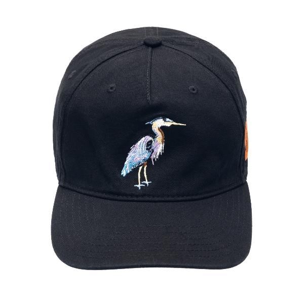 Black baseball cap with embroidery                                                                                                                    Heron preston HMLB006R21FAB003 front