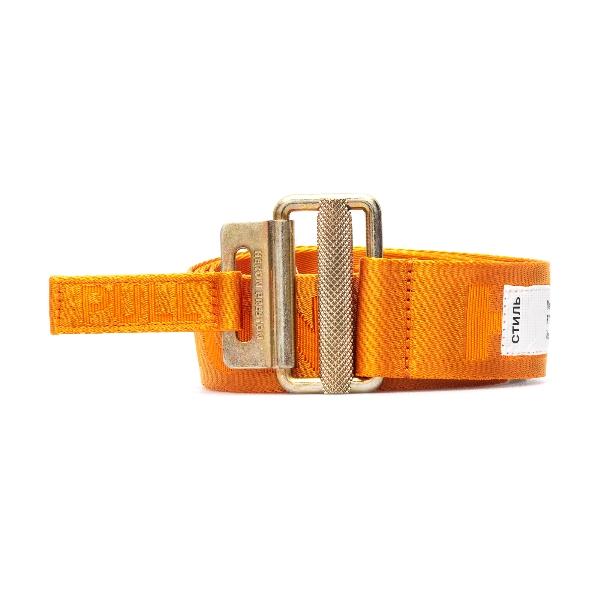 Cintura arancione con logo                                                                                                                            Heron preston HMRB005R21MAT001 fronte