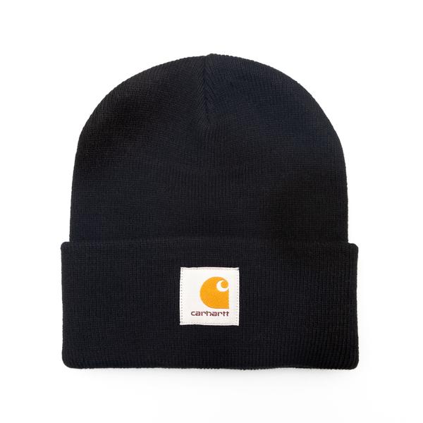 Cappello a cuffietta nero con logo                                                                                                                    Carhartt I017326 retro