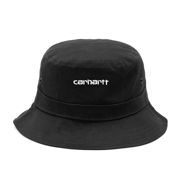 Black bucket hat with brand name                                                                                                                      Carhartt I026217 back