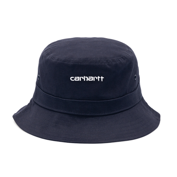 Blue bucket hat with brand name                                                                                                                       Carhartt I026217 back