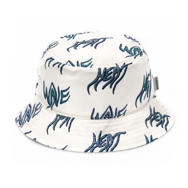Cappello a secchiello bianco con scritte                                                                                                              Carhartt I028732 retro