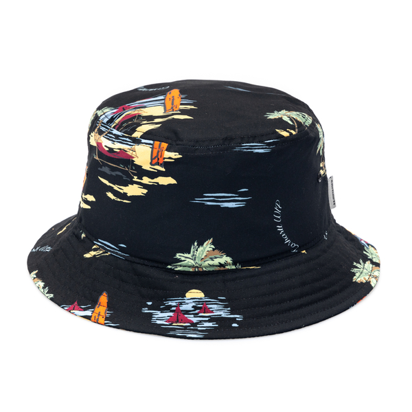 Black bucket hat with print                                                                                                                           Carhartt I028951 back