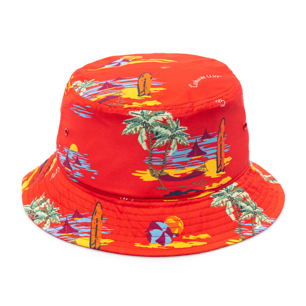 Red bucket hat with print                                                                                                                             Carhartt I028951 back