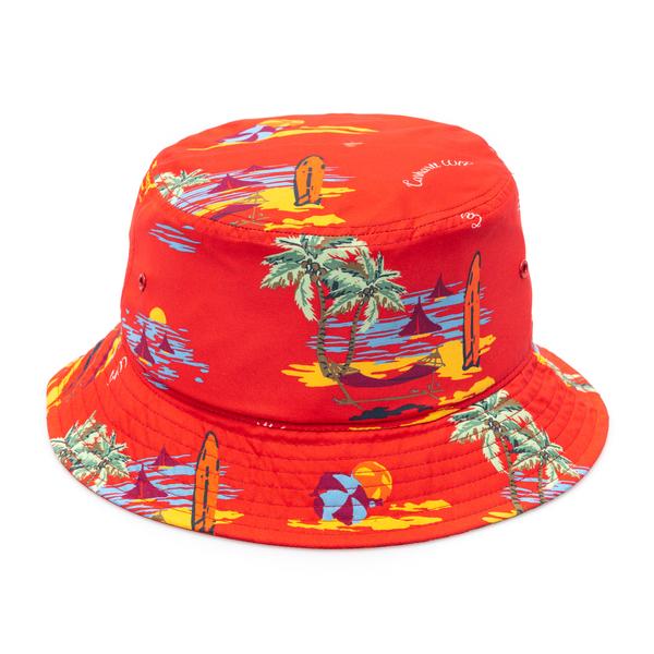 Cappello a secchiello rosso con stampa                                                                                                                Carhartt I028951 retro