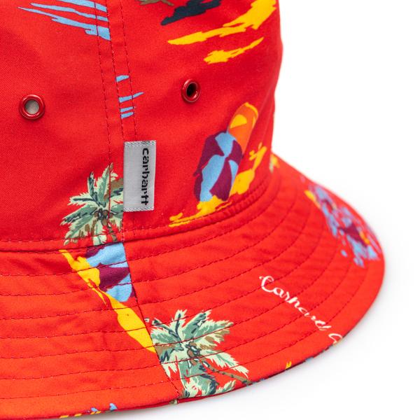 Cappello a secchiello rosso con stampa                                                                                                                 CARHARTT                                           CARHARTT
