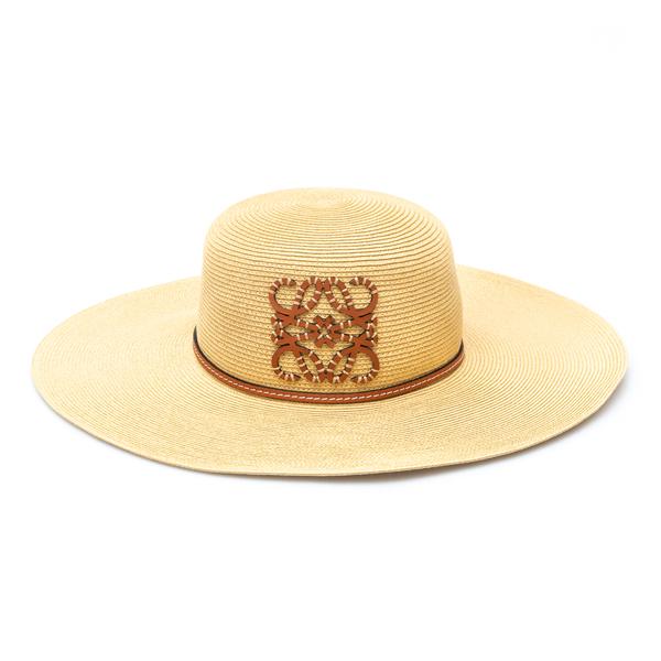 Wide-brimmed braided hat with logo                                                                                                                    Loewe Paula's Ibiza K820295X38 back