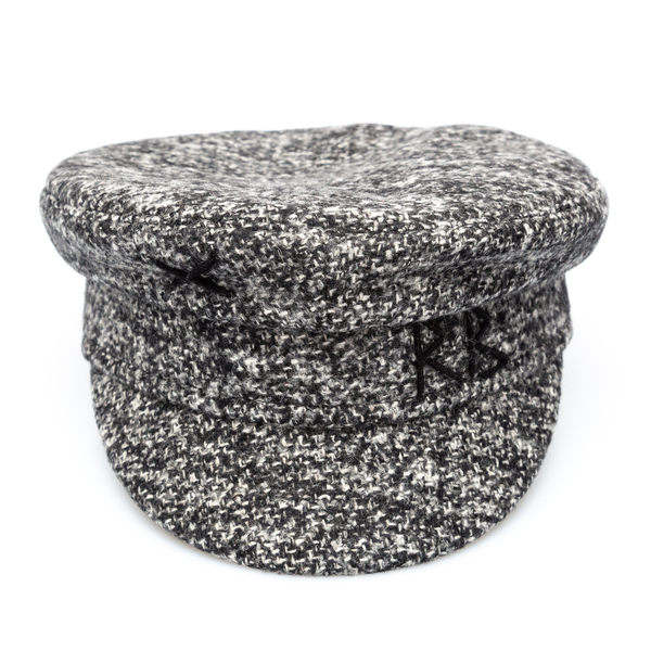 Grey Baker Boy hat with embroidery                                                                                                                    Ruslan Baginskiy KPC030 back