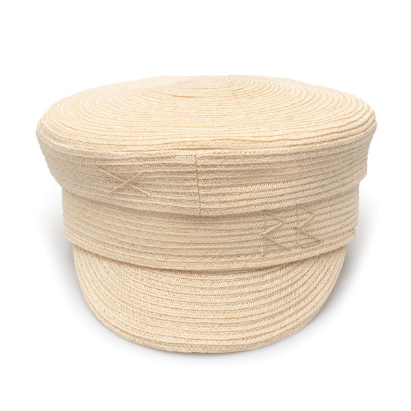 Beige Baker Boy hat with embroidery                                                                                                                   Ruslan Baginskiy KPC035 back
