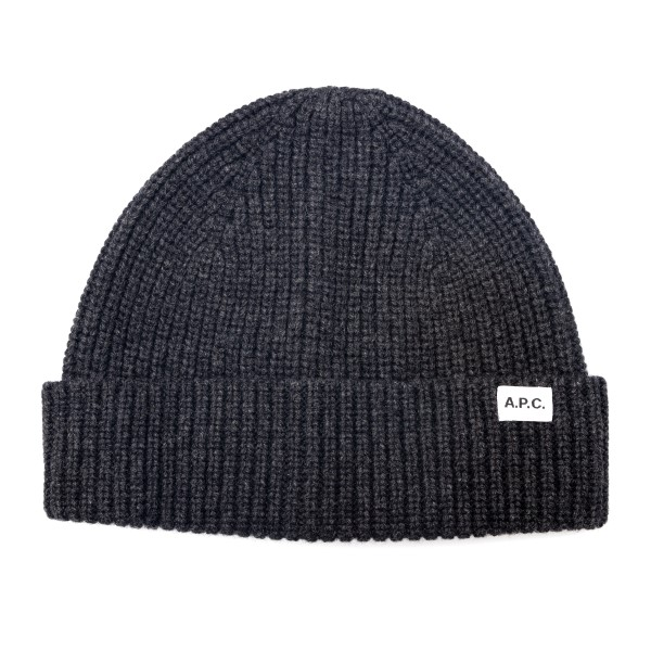 Grey beanie hat with logo                                                                                                                             A.p.c. M25066 back