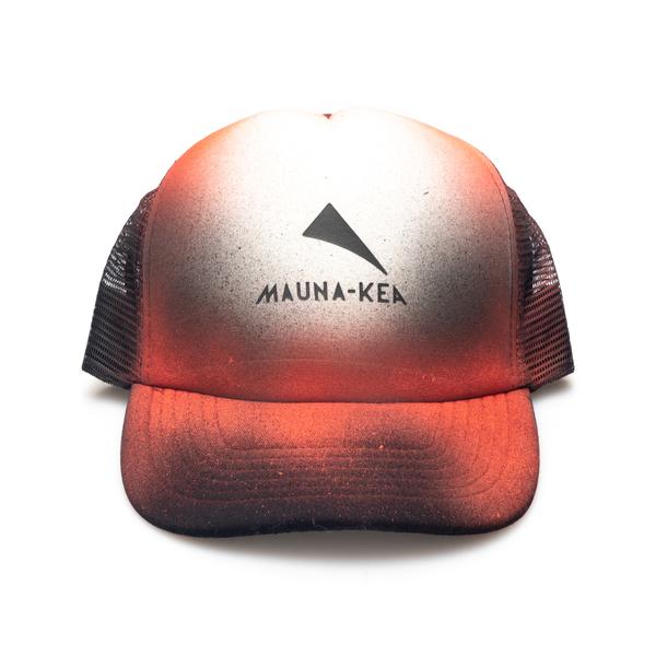 Orange gradient hat with logo                                                                                                                         Mauna Kea MKSTRHAT back