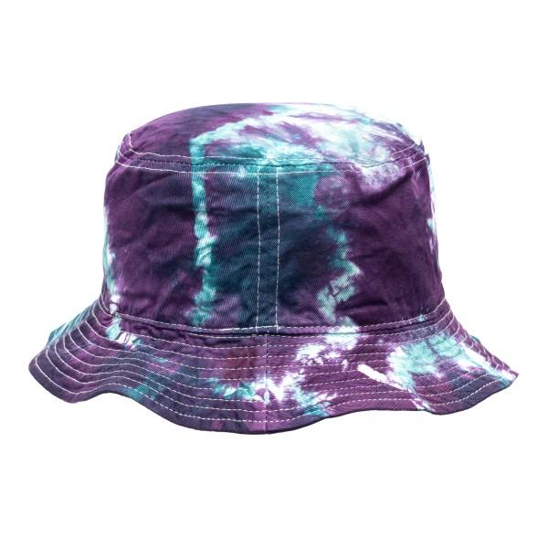 Tie-dye effect purple bucket hat                                                                                                                      Mauna kea MKUBHAT front