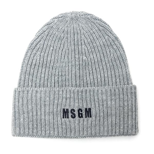 Grey beanie hat with logo                                                                                                                             Msgm ML04 back