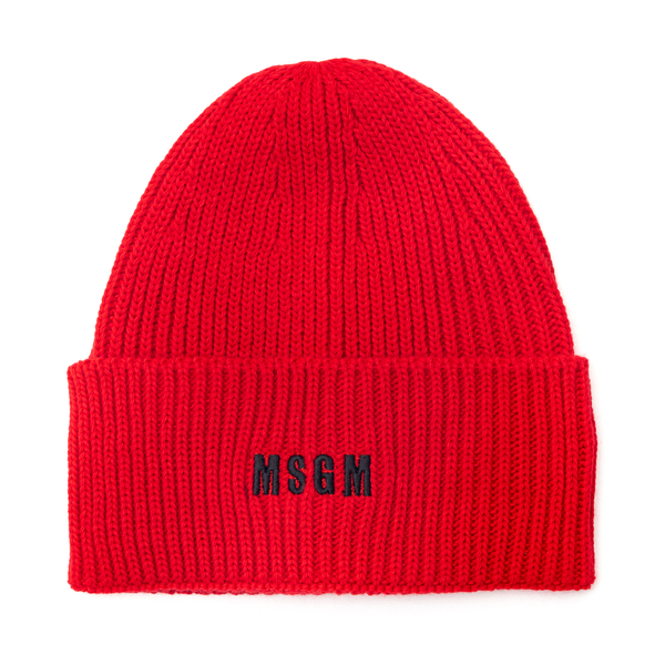 Red beanie hat with logo                                                                                                                              Msgm                                               ML04 back