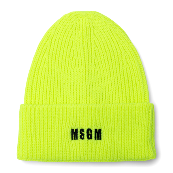 Yellow beanie hat with logo                                                                                                                           Msgm ML04 back