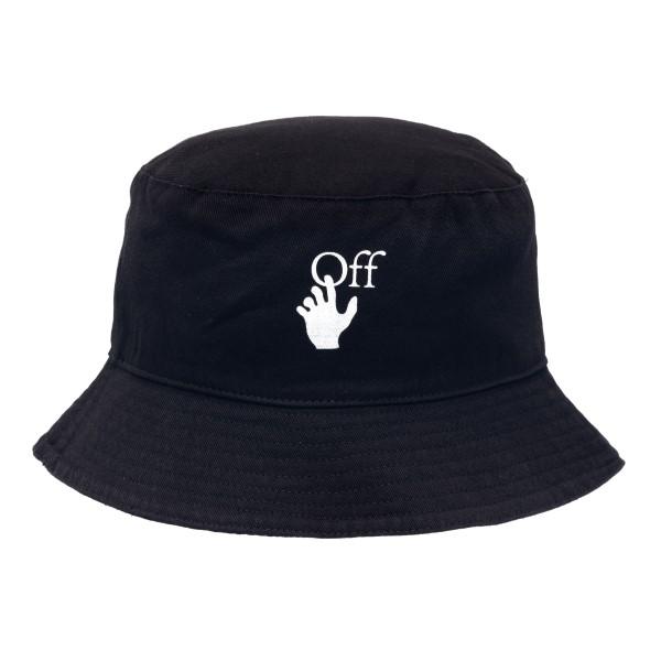 Cappello a secchiello nero con stampa                                                                                                                 Off White OMLA012R21FAB001 retro