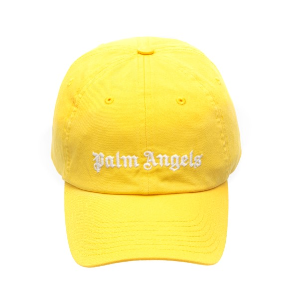 Yellow baseball cap with logo                                                                                                                         Palm angels PMLB003R21FAB002 front