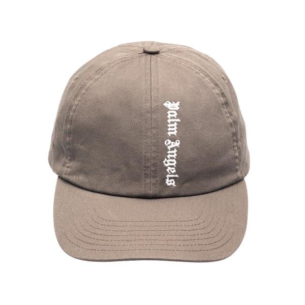 Grey baseball cap with logo                                                                                                                           Palm angels PMLB003R21FAB003 front