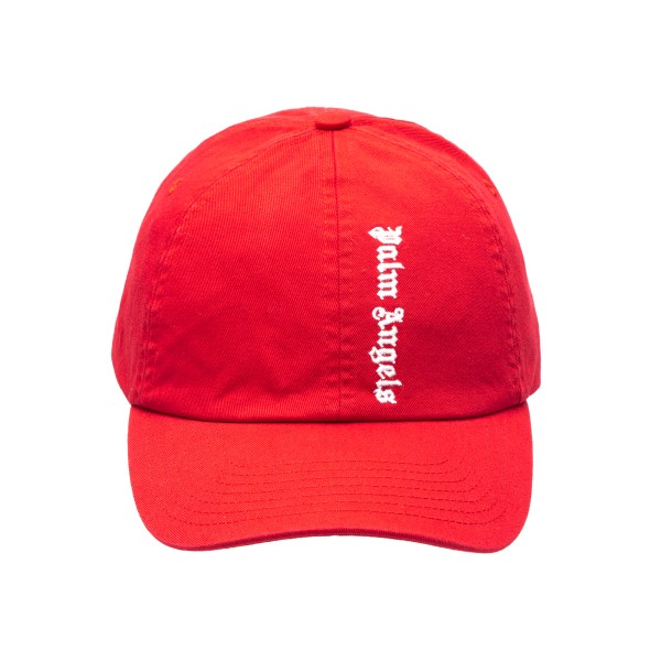Red baseball cap with logo                                                                                                                            Palm angels PMLB003R21FAB003 front