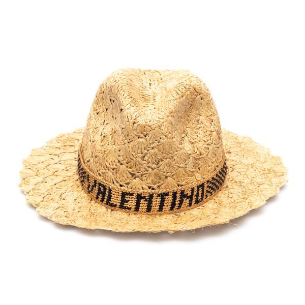 Cappello in paglia con fascia logo                                                                                                                    Valentino Garavani VW2HAA59 retro