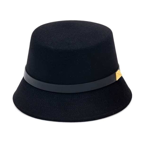 Black bucket hat with stud                                                                                                                            Valentino Garavani WW2HGA63 back