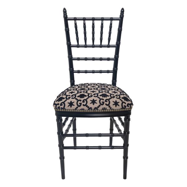 Sedia con motivo GG jacquard                                                                                                                          Gucci 482816 retro