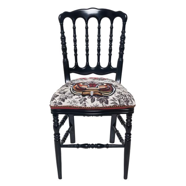 Sedia in legno con ricamo                                                                                                                             Gucci 483916 retro