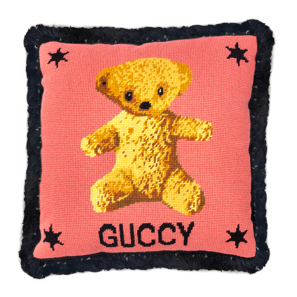 Cuscino rosa con orsetto                                                                                                                              Gucci 527766 retro