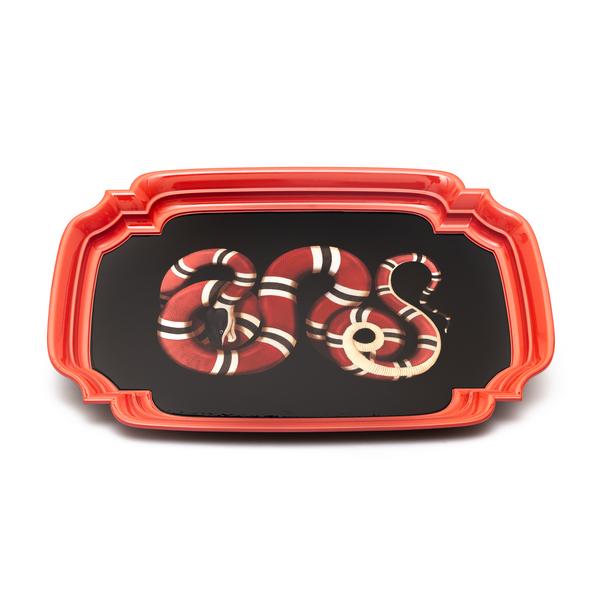 Vassoio grande cesellato con serpente                                                                                                                 Gucci 528240 retro