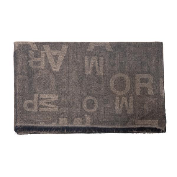 Foulard marrone con lettere                                                                                                                           Emporio Armani 635260 retro