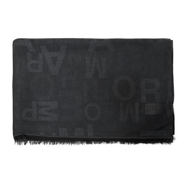 Foulard nero con logo                                                                                                                                 Emporio Armani 635260 retro