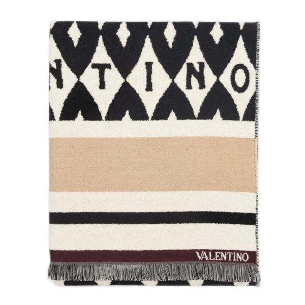 Sciarpa multicolore con pattern                                                                                                                       Valentino Garavani WW2ED007 retro