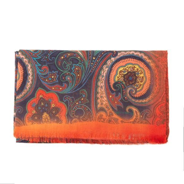 Sciarpa multicolore a motivo paisley                                                                                                                  Etro 10007 retro