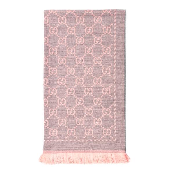 Sciarpa bicolore con pattern logo                                                                                                                     Gucci 133483 retro