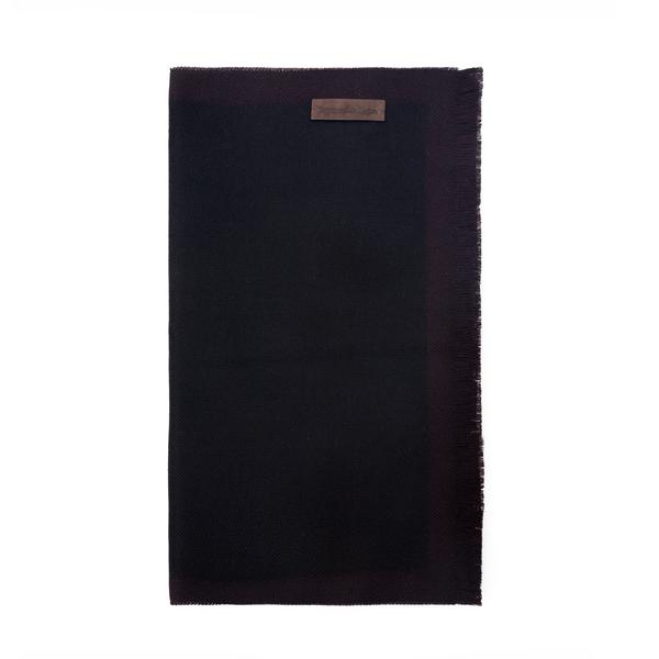 Sciarpa nera con targhetta logo                                                                                                                       Zegna 2YH retro