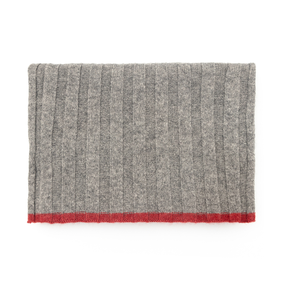 Grey ribbed scarf                                                                                                                                     Brunello Cucinelli 40819 back