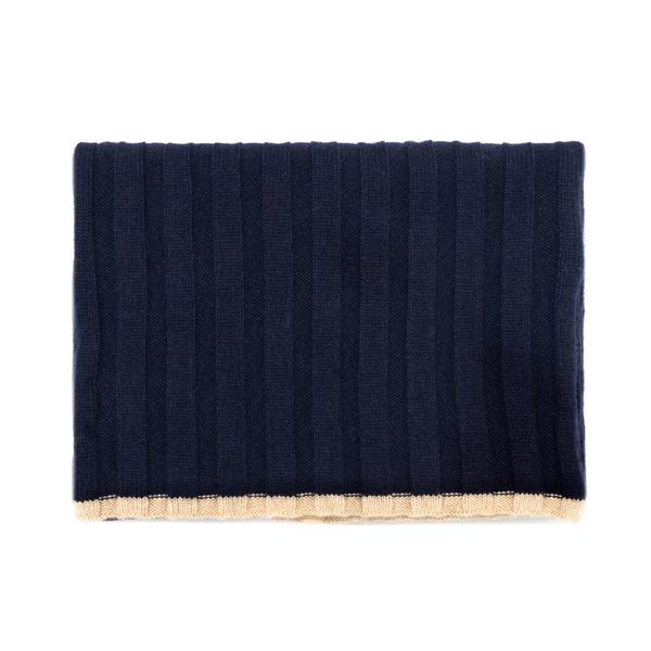 Sciarpa blu a costine                                                                                                                                 Brunello Cucinelli 40819 retro