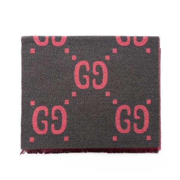 Gray scarf with logo pattern                                                                                                                          Gucci                                              558007 retro