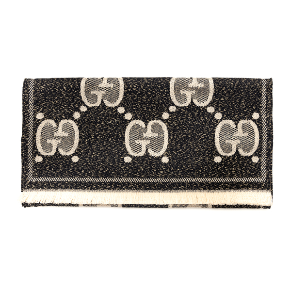 Double-sided scarf with logo                                                                                                                          Gucci 598993 back