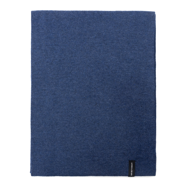 Blue scarf with logo                                                                                                                                  Emporio Armani 625058 back