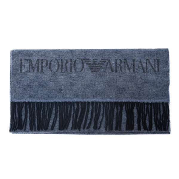 Blue scarf with brand name                                                                                                                            Emporio Armani 625060 back