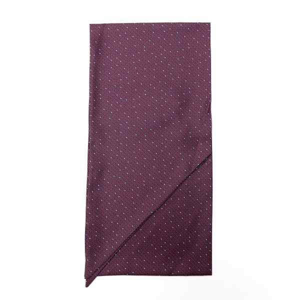 Burgundy foulard with geometric texture                                                                                                               Emporio Armani 625105 front