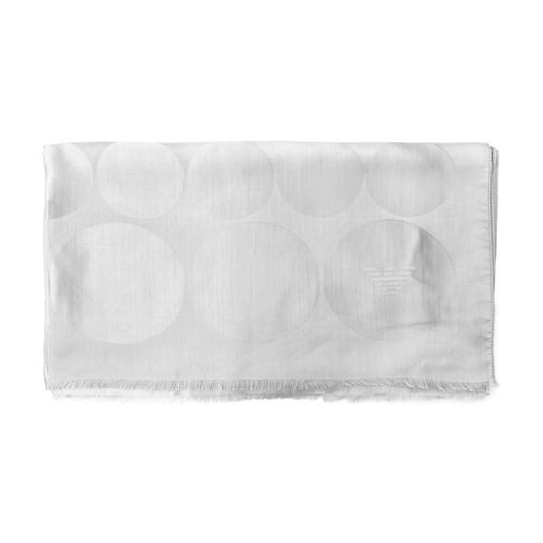 Foulard bianco con texture a cerchi                                                                                                                   Emporio Armani 625206 retro