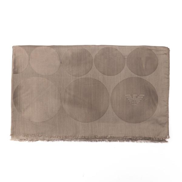 Foulard marrone con texture a cerchi                                                                                                                  Emporio Armani 625206 retro