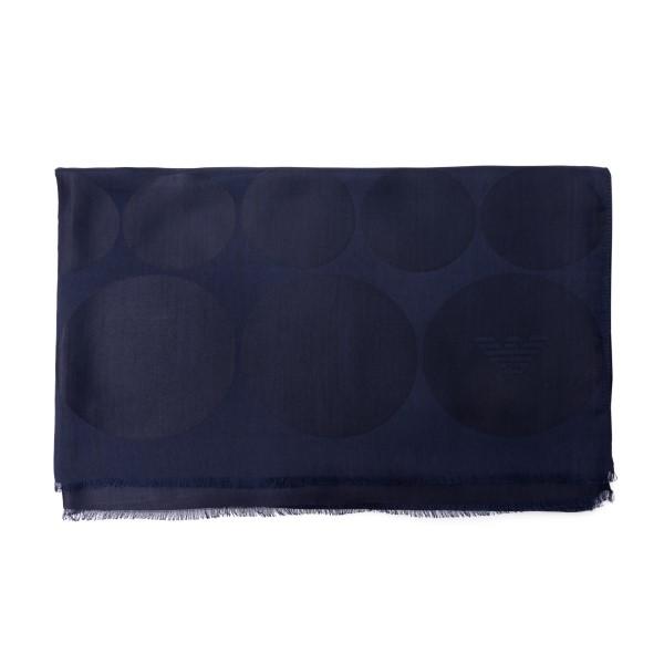 Foulard blu scuro a cerchi                                                                                                                            Emporio Armani 625206 retro